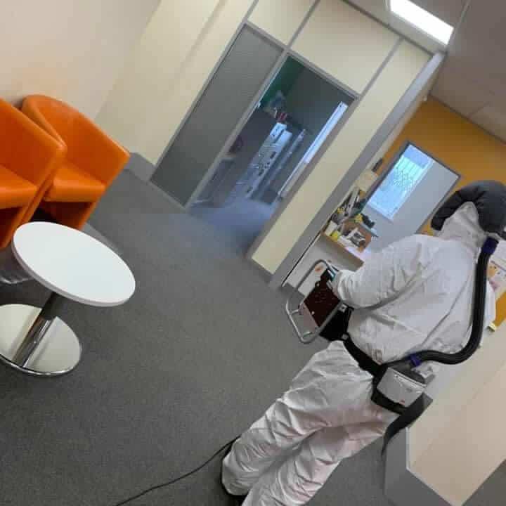 coronavirus office disinfecting